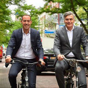 Kandidaat-wethouders Adriaan Visser en Said Kasmi